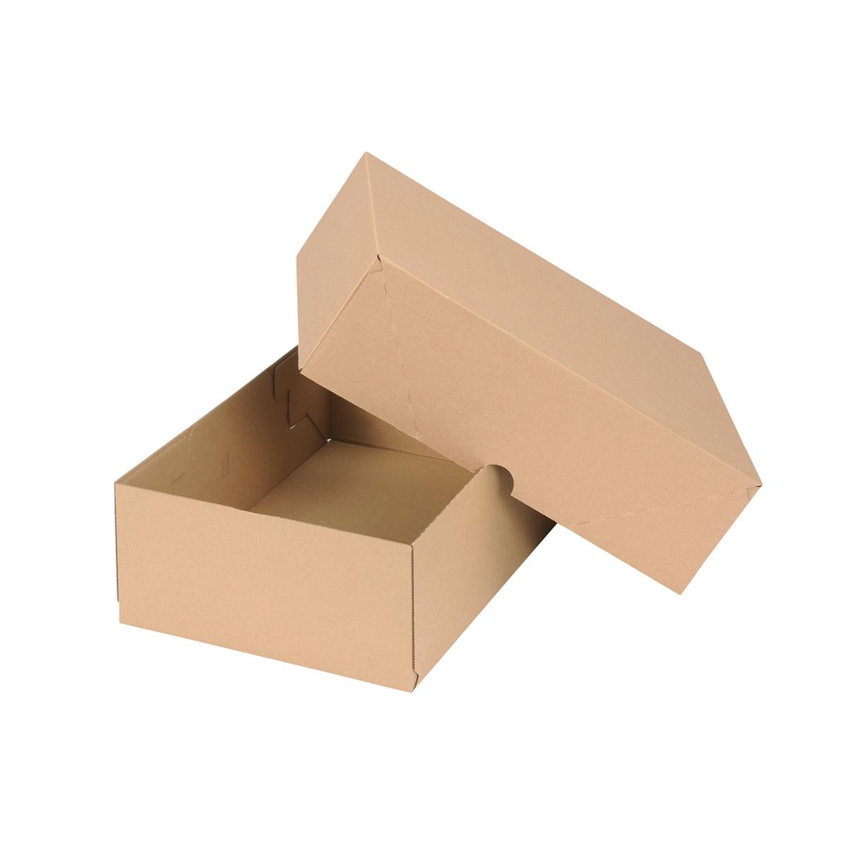 Packaging boxes Self Locking Box Carton and Lid A4 W305xD215xH100mm Brown Pack 10