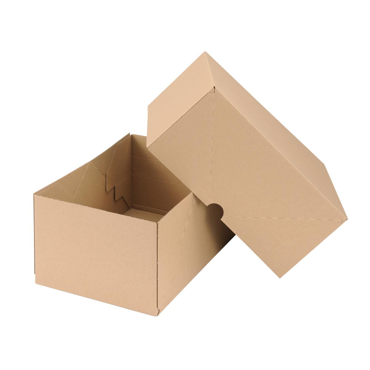 Self Locking Box Carton and Lid A4 305x215x150mm Brown [Pack 10]