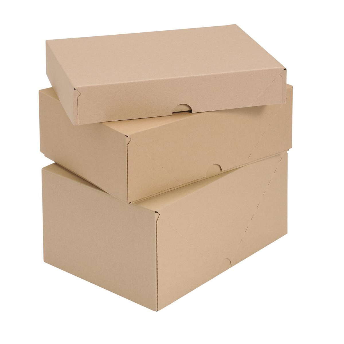 Self Locking Box Carton and Lid A4 305x215x150mm Brown Pack 10