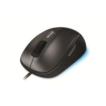 Microsoft Comfort 4500 Mouse Corded USB with Scroll Wheel 5-button Both Handed Black/Silver Ref 4FD-00023