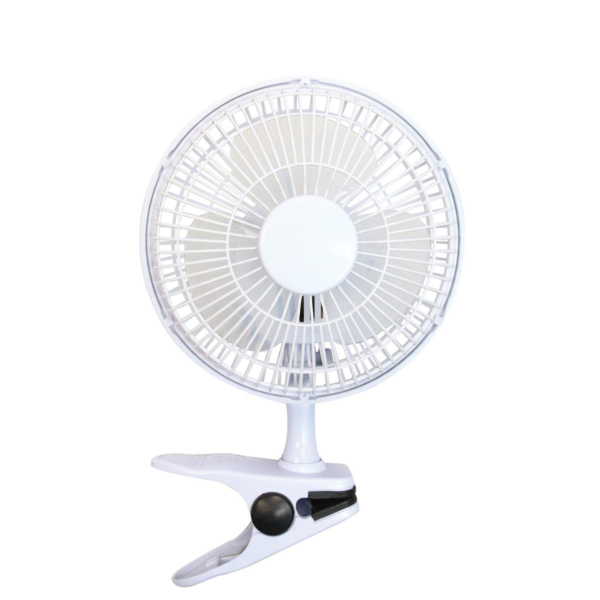 Desk Fans 5 Star Facilities Clip-On Fan 6 Inch with Tilt for Desk or Shelf 2-Speed 1.25-1.3m Cable Dia.152mm White