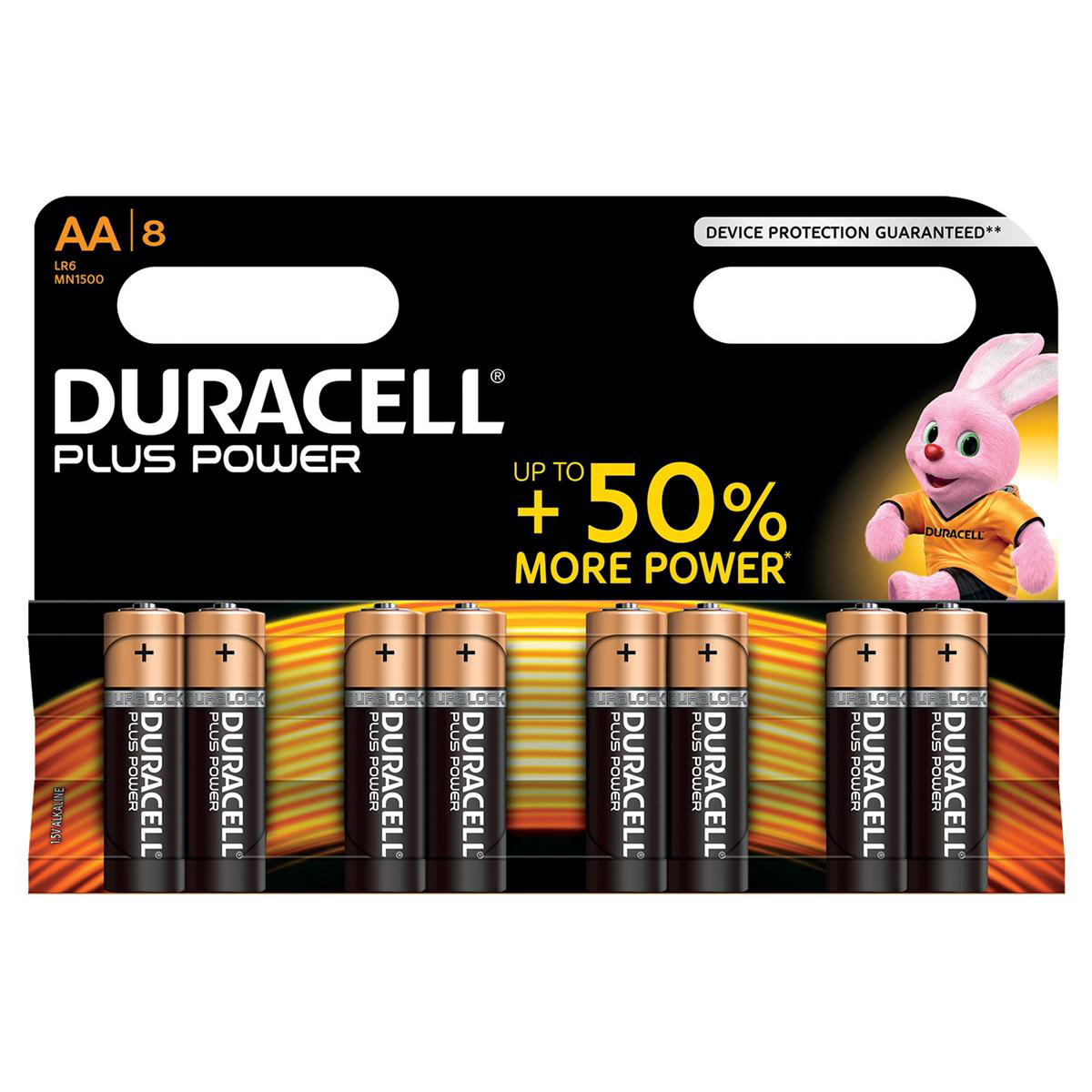 Duracell Plus Power Battery Alkaline 1.5V AA Ref 81275377 Pack 8