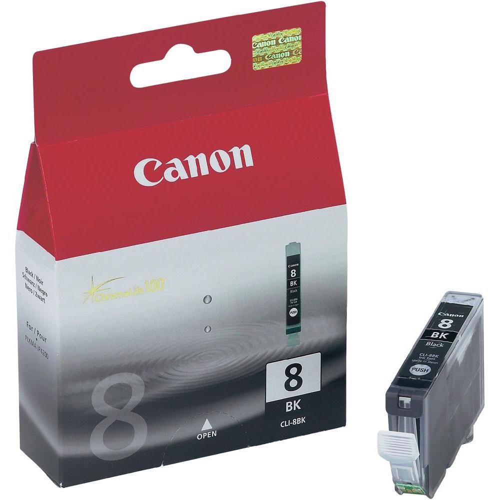 Inkjet Cartridges Canon CLI-8BK Inkjet Cartridge Page Life 1145pp 13ml Black Ref 0620B001