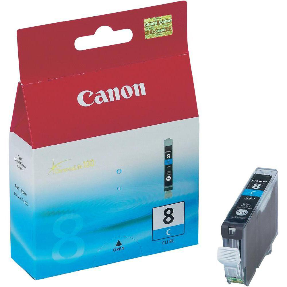 Canon CLI-8C Inkjet Cartridge Cyan Page Life 790pp 13ml Ref 0621B001
