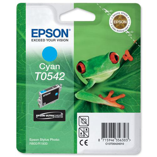Epson T0542 Inkjet Cartridge Frog Page Life 400pp 13ml Cyan Ref C13T05424010
