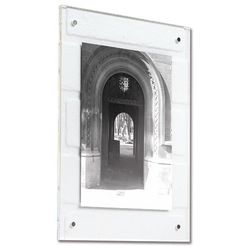 5 Star Facilities Acrylic Wall Display Frame Magnetic Closure with Fixings A4 210x12x297mm Clear