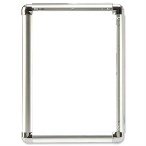 Certificate / Photo Frames 5 Star Facilities Clip Display Frame Aluminium with Fixings Front-loading A3 297x13x420mm Silver