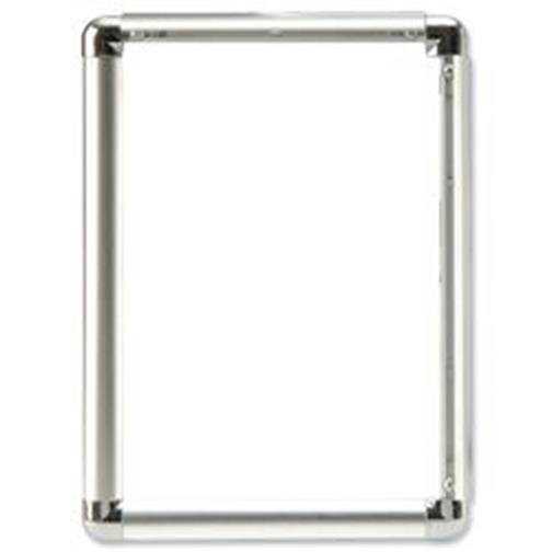 Certificate / Photo Frames 5 Star Facilities Clip Display Frame Aluminium with Fixings Front-loading A2 420x13x594mm Silver