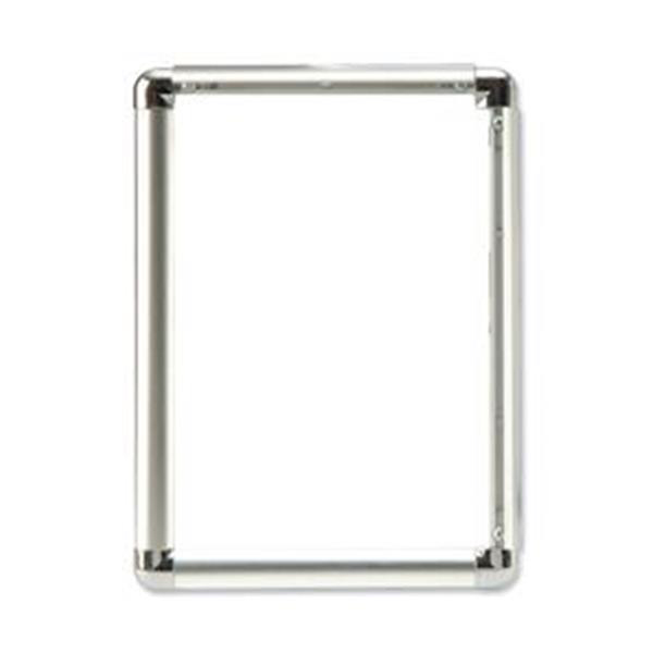 Certificate / Photo Frames 5 Star Facilities Clip Display Frame Aluminium with Fixings Front-loading A1 594x13x841mm Silver