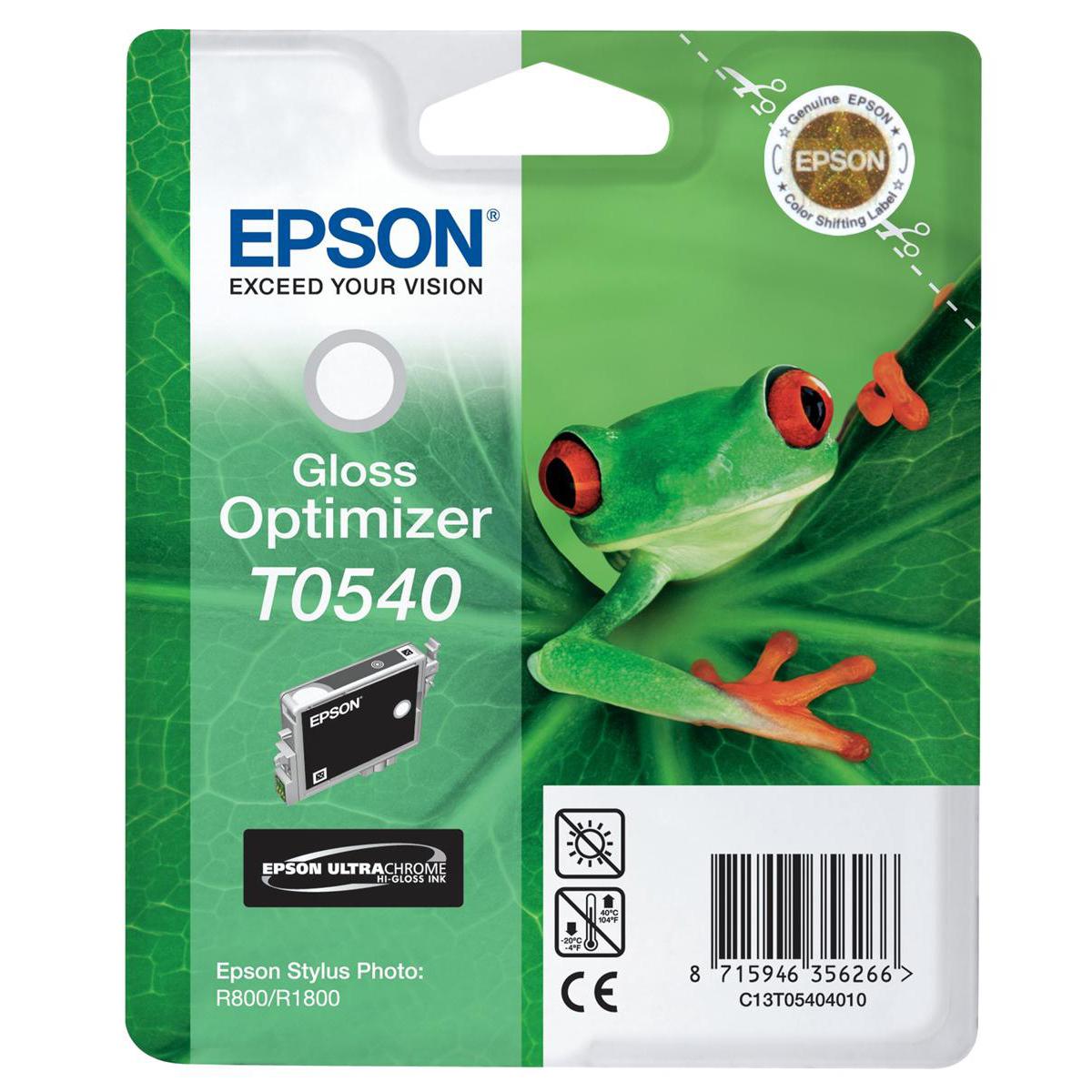 Epson T0540 Inkjet Cartridge Frog Page Life 400pp 13ml Gloss Optimiser Ref C13T05404010