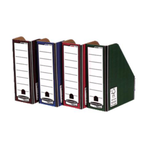 Bankers Box by Fellowes Premium Magazine File Fastfold A4 Plus Blue and White Ref 0722906 Pack 10
