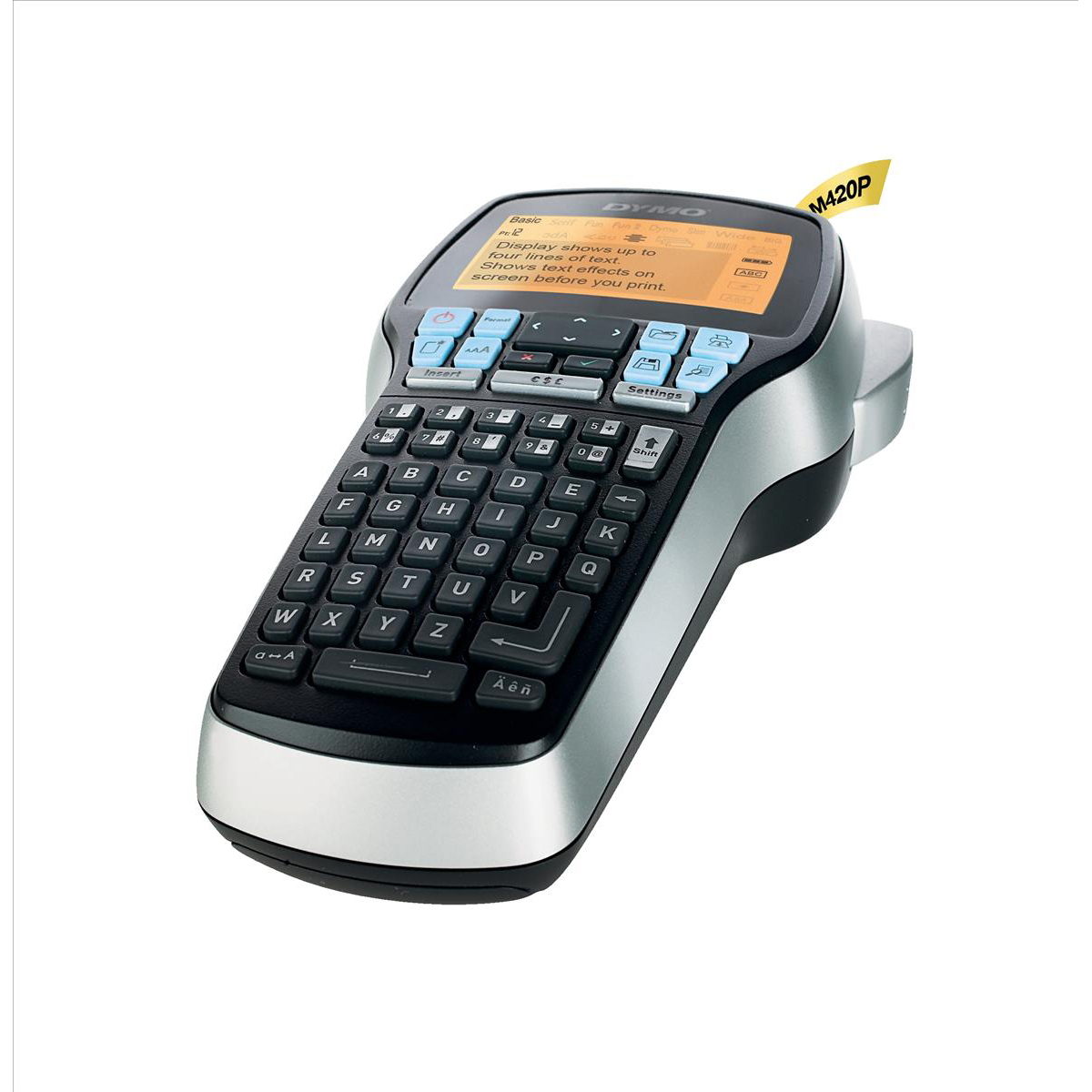 Labelling Machines Dymo LabelManager 420P Compact Label Maker 4-Line Display ABC 10 Styles 7 Type-sizes D1 Ref S0915490