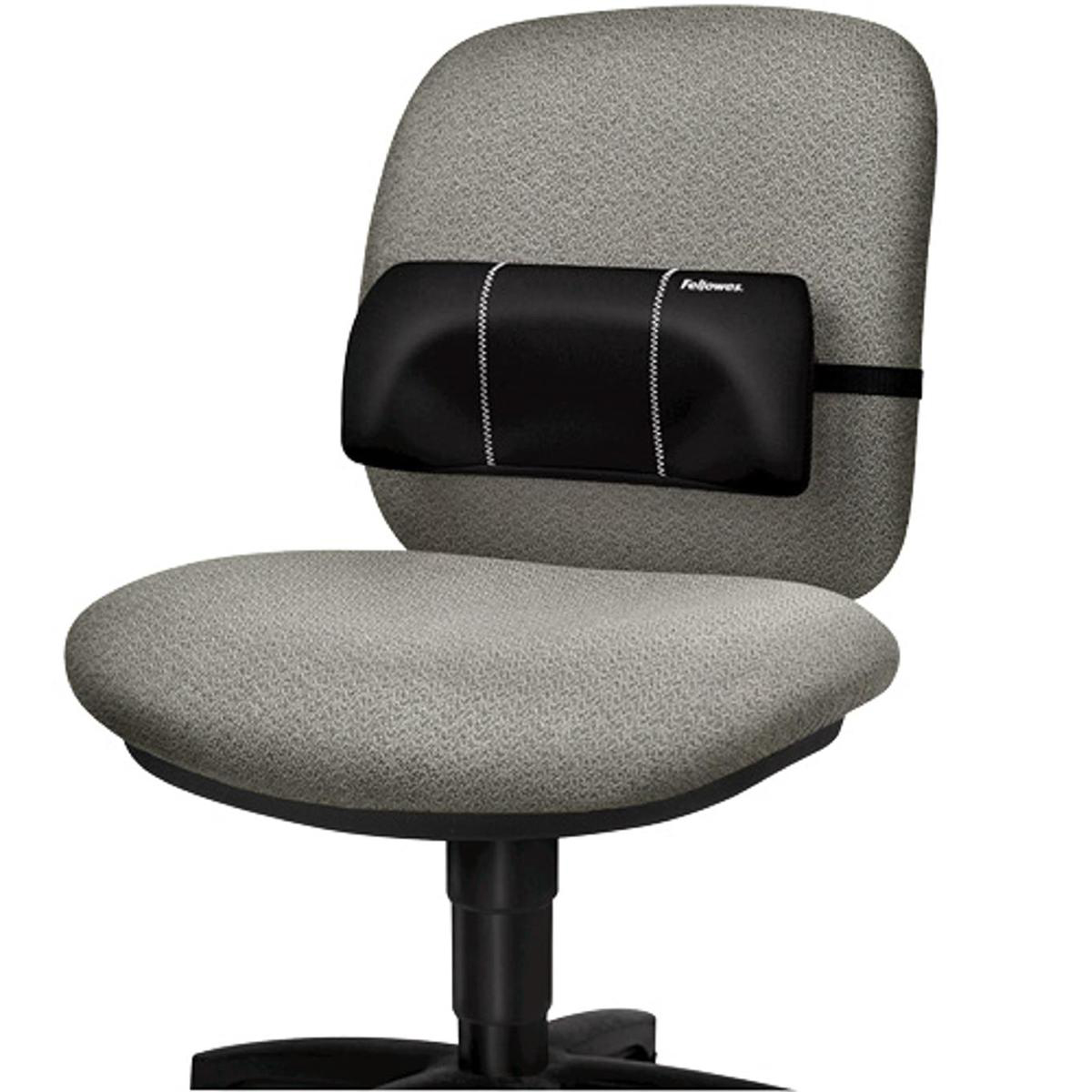 Chair Fellowes Portable Lumbar Support Soft-brushed Cover Adjustable-straps Ref 8042101 REDEMPTION Apr-Jun20