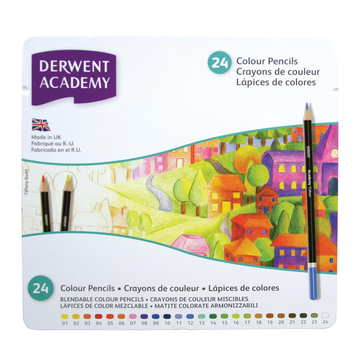 Derwent Academy Colouring Pencils High -quality Pigments Assorted Ref 2301938 Pack 24