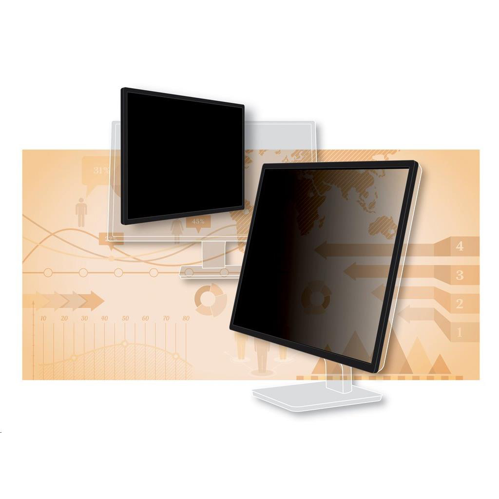 3M Privacy Screen Protection Filter Anti-glare Framed Desktop Widescreen LCD 22in Ref PF220W1F