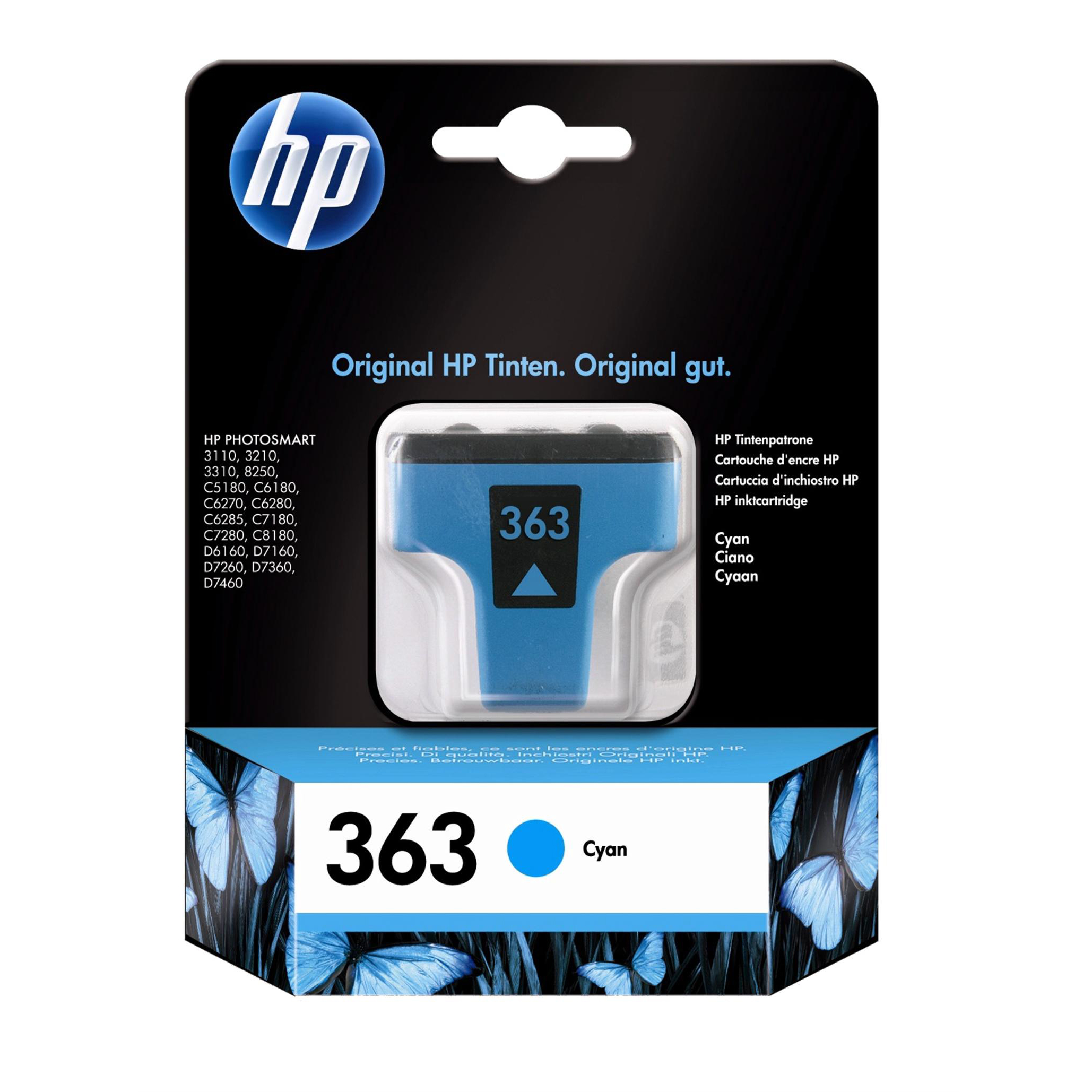 Hewlett Packard [HP] No. 363 Inkjet Cartridge Page Life 350pp 4ml Cyan Ref C8771EE #ABB