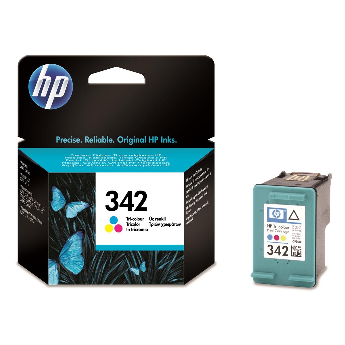 Hewlett Packard [HP] No.342 Inkjet Cartridge Page Life 220pp 5ml Tri-Colour Ref C9361EE