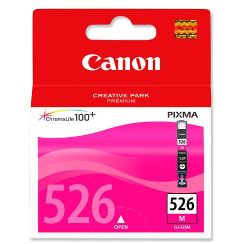 Canon CLI-526M Inkjet Cartridge Page Life 204pp 9ml Magenta Ref 4542B001