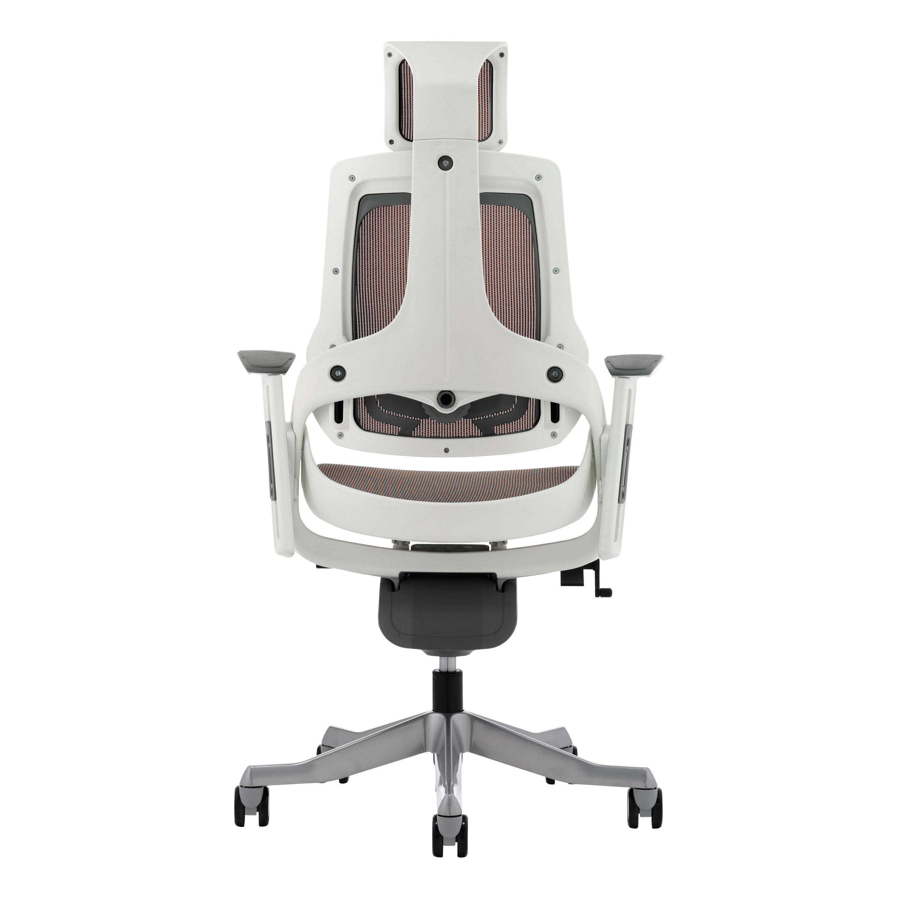 Adroit Zure White Frame Mesh Head Rest Mandarin 565x520x450-550mm Ref KC0163