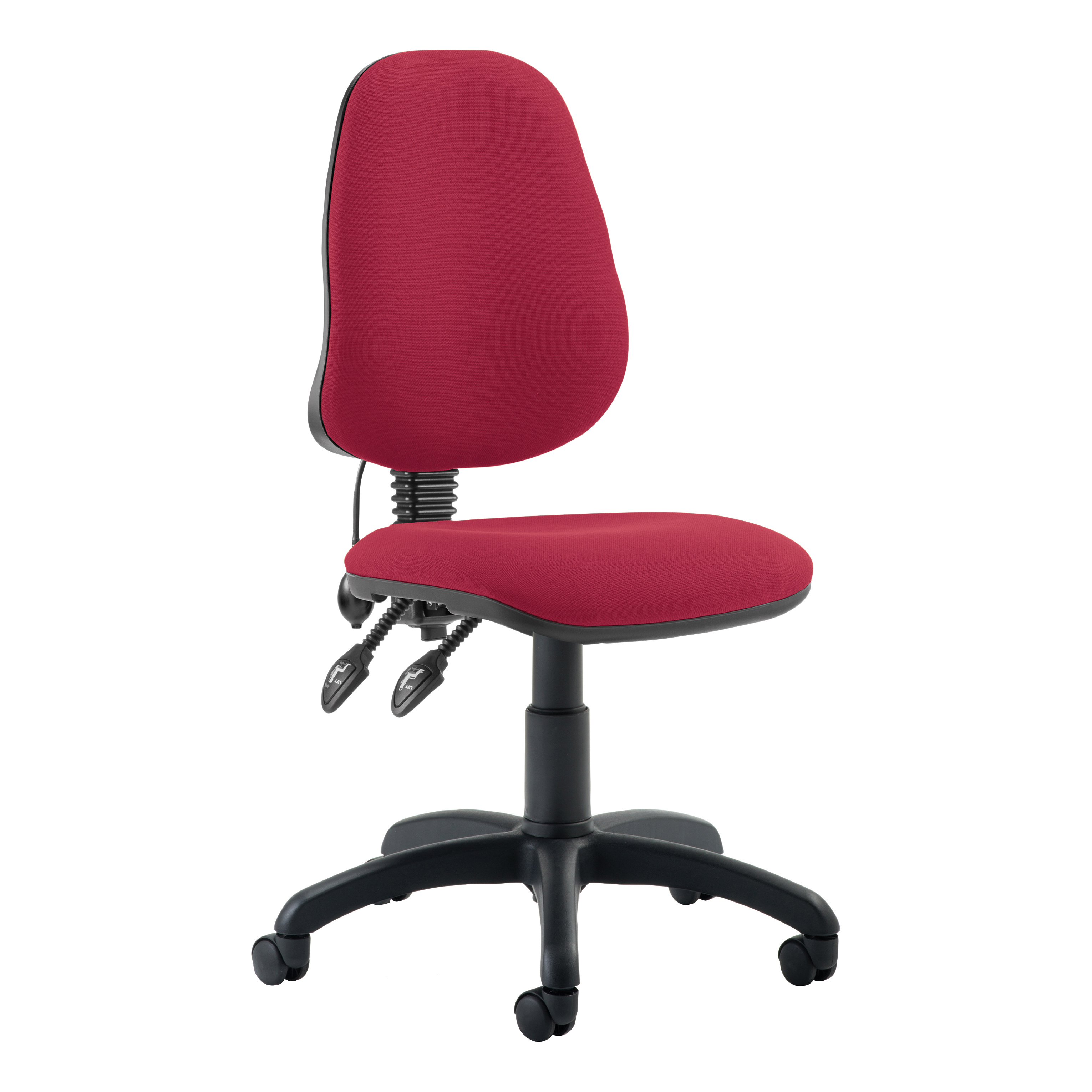 Trexus Lumbar High Back Permanent Contact Chair Red 480x450x490-590mm Ref LM00004