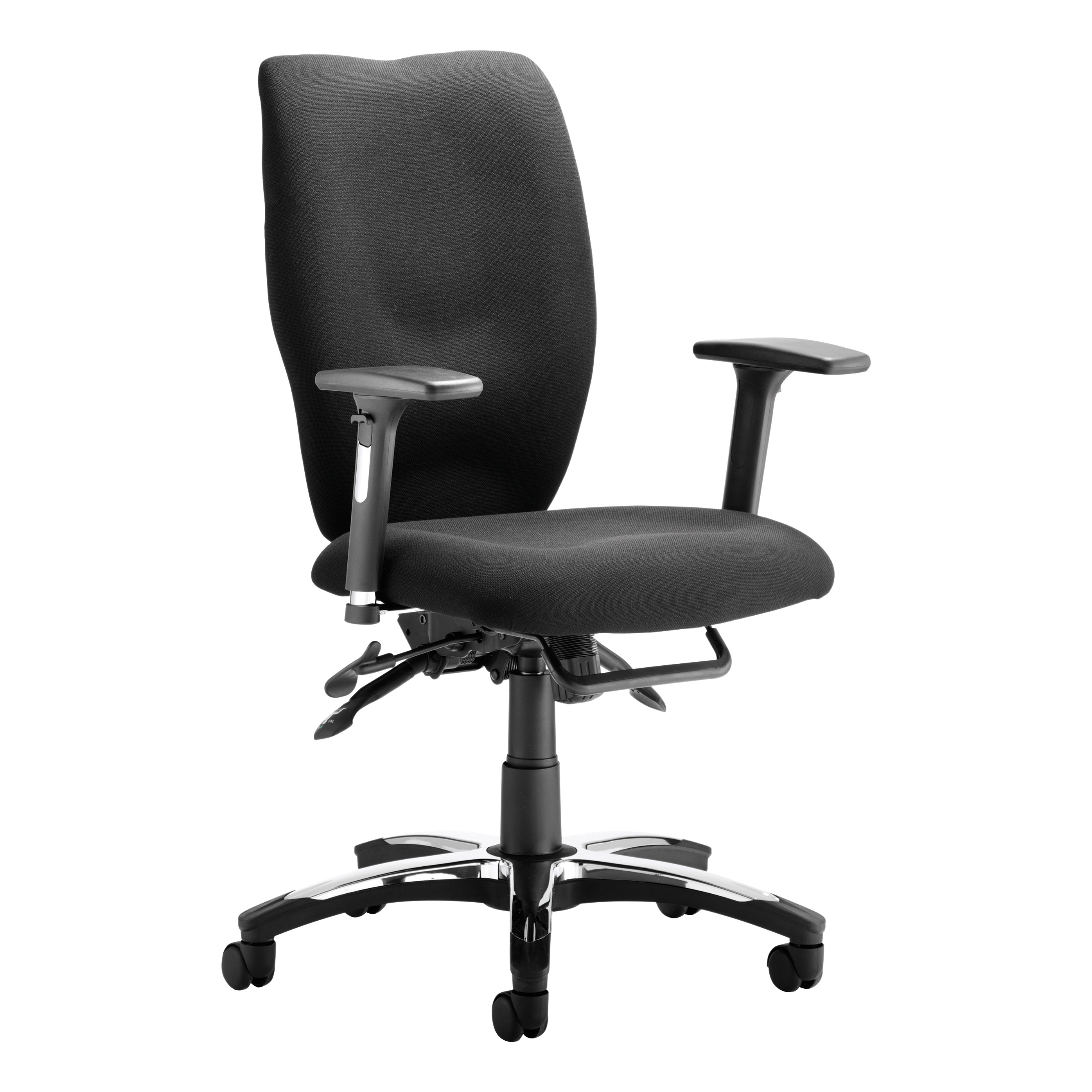 Sonix Sierra Chair Black 520x470-530x450-550mm Ref OP000176