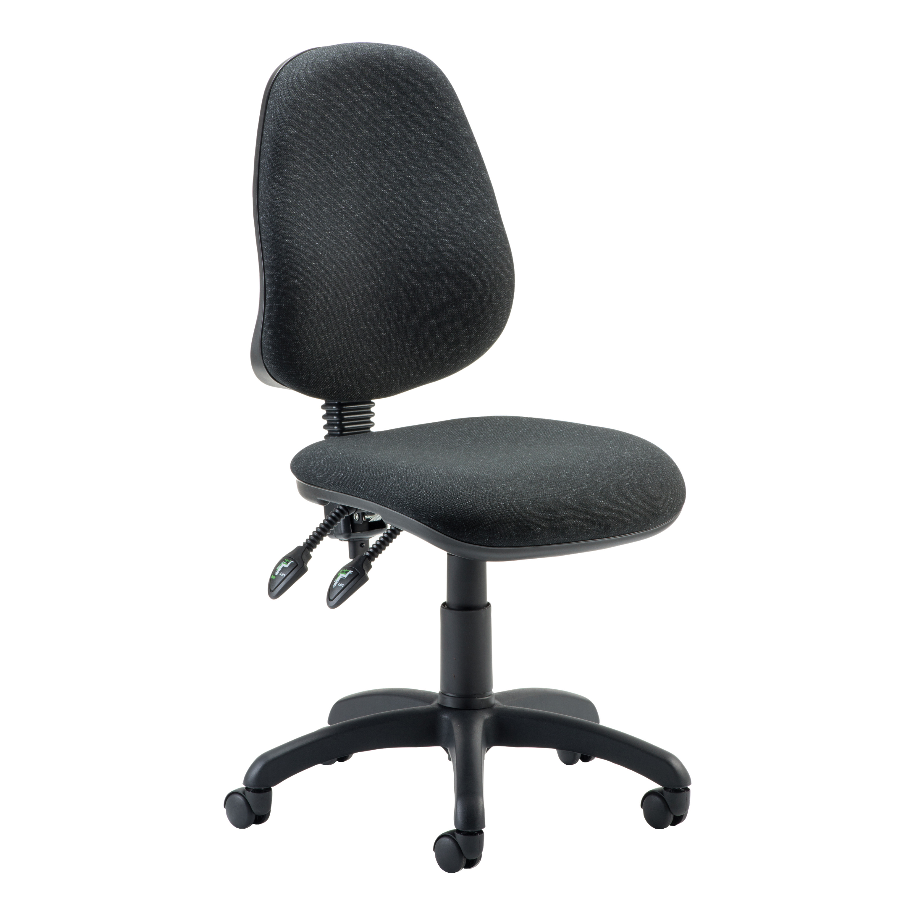 Trexus 2 Lever High Back Permanent Contact Operators Chair Charcoal 480x450x490-590mm Ref OP000026