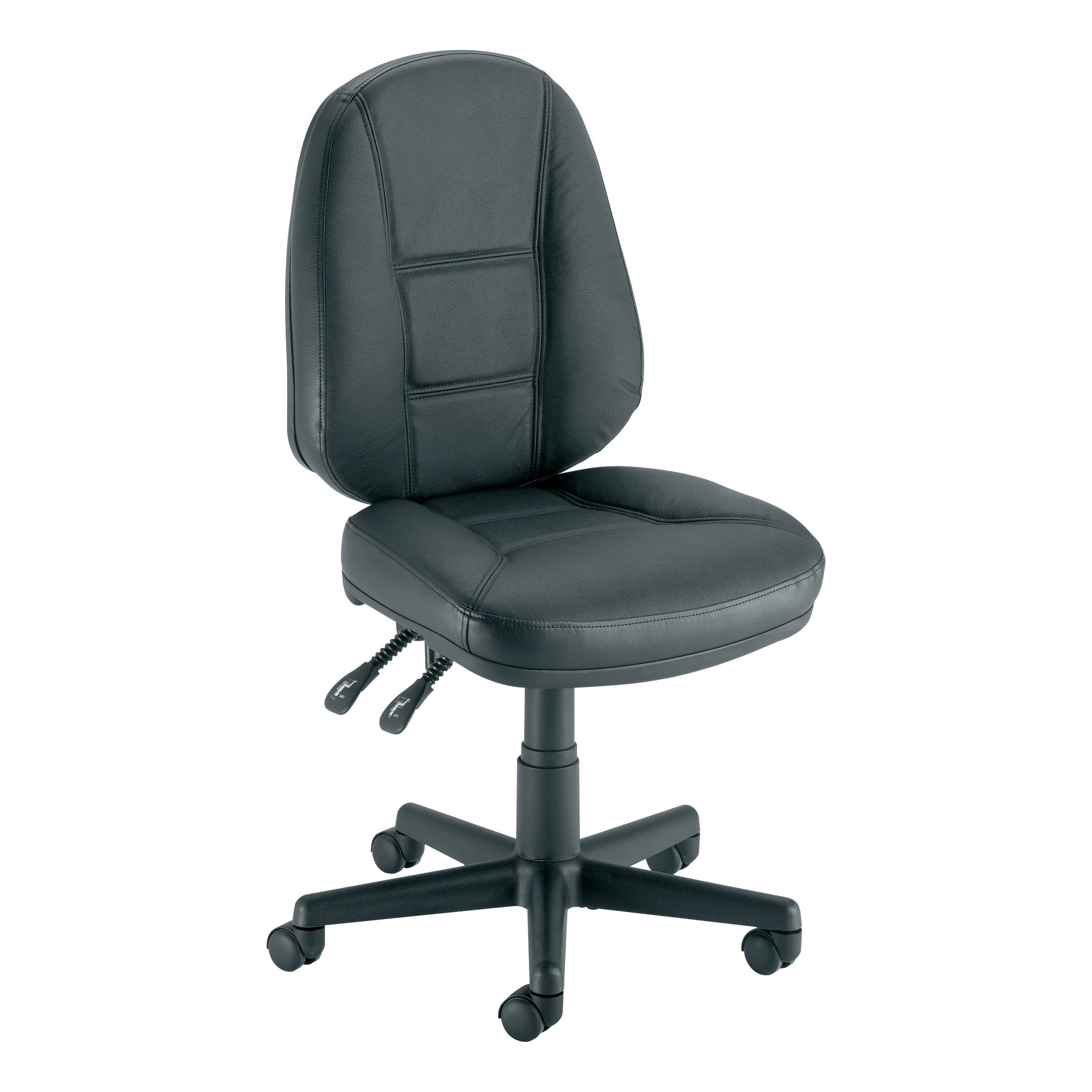 Trexus Intro Leather High Back Permanent Contact Operators Chair 490x450x440-560mm Ref ST204 3LEVER