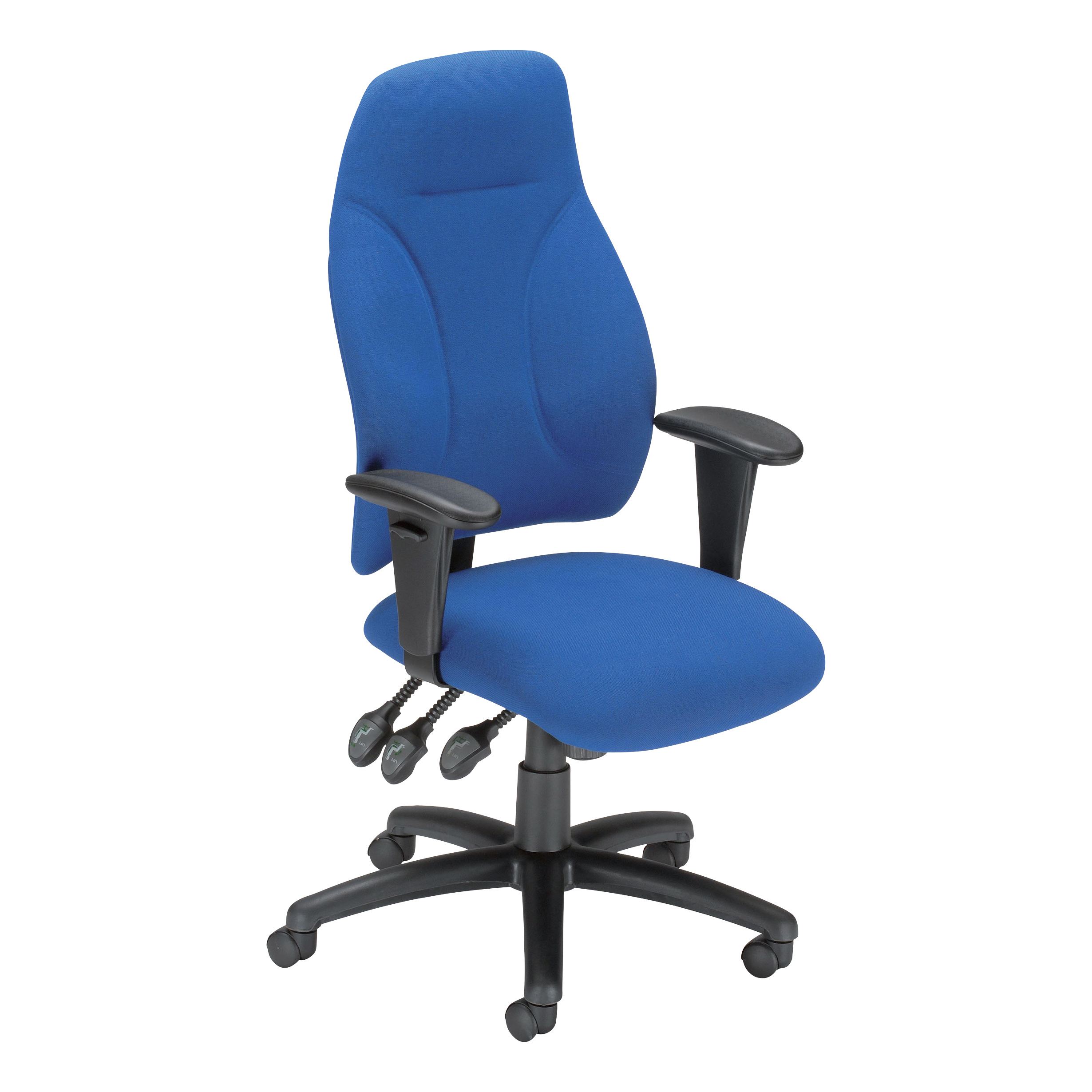 Trexus Posture High Back Asynchronous Chair Blue 500x500x520-530mm Ref SP413853