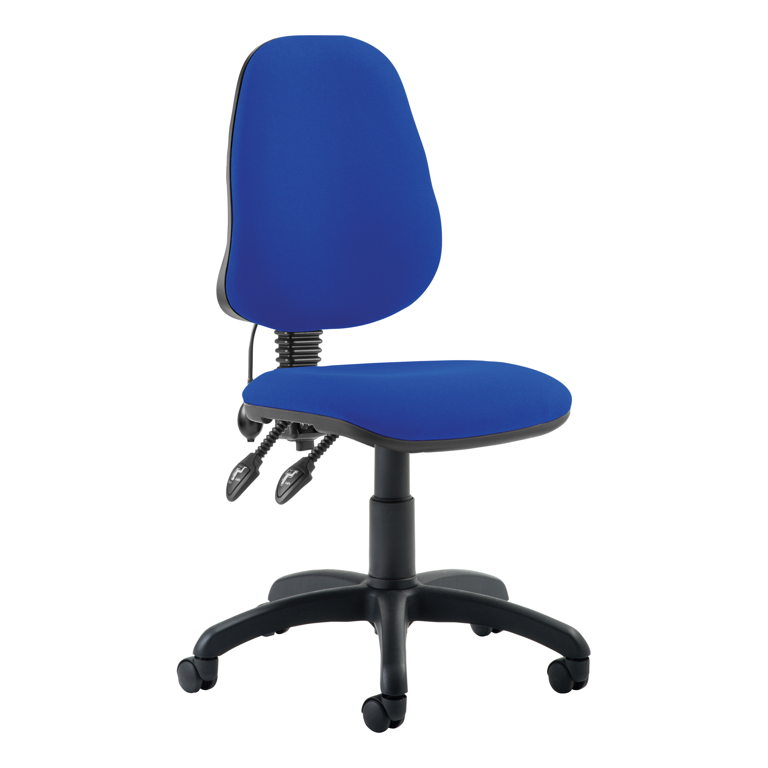 Trexus Lumbar High Back Permanent Contact Chair Blue 480x450x490-590mm Ref LM00002