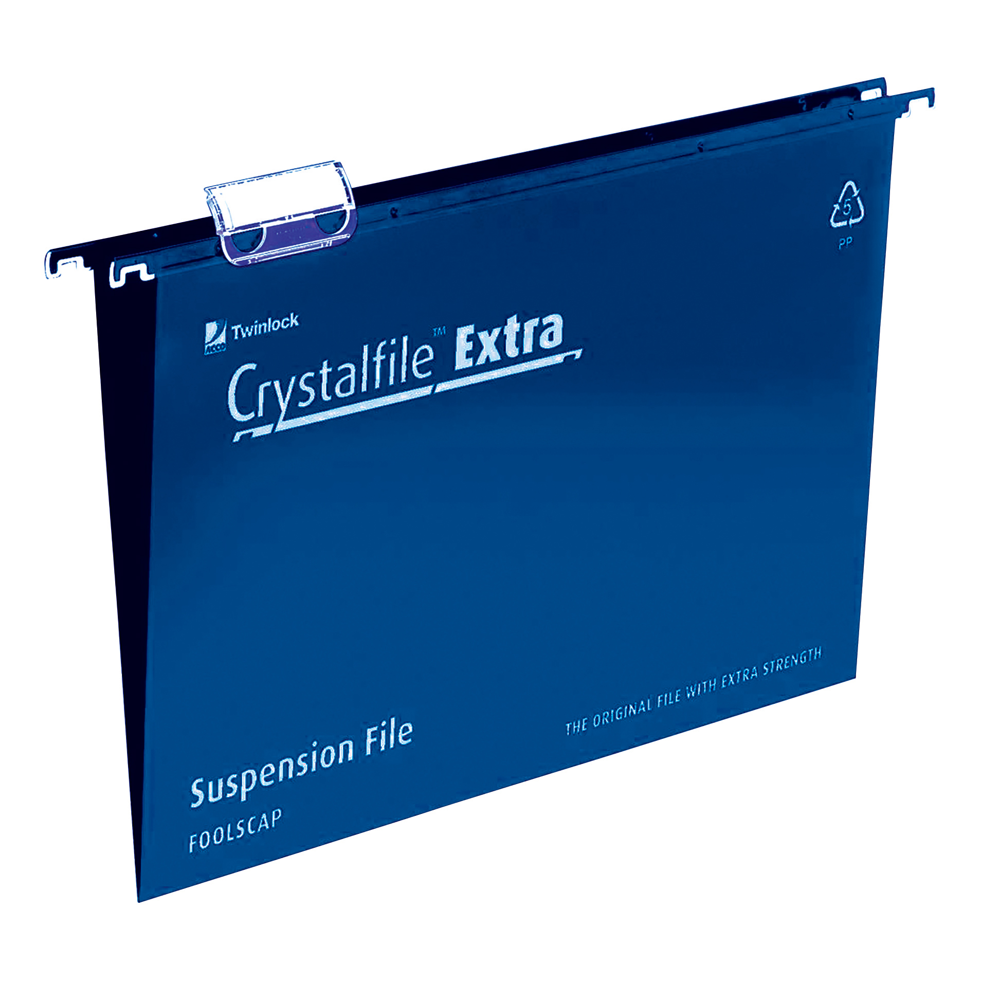 Suspension File Rexel Crystalfile Extra Suspension File Polypropylene 15mm V-base Foolscap Blue Ref 70630 Pack 25