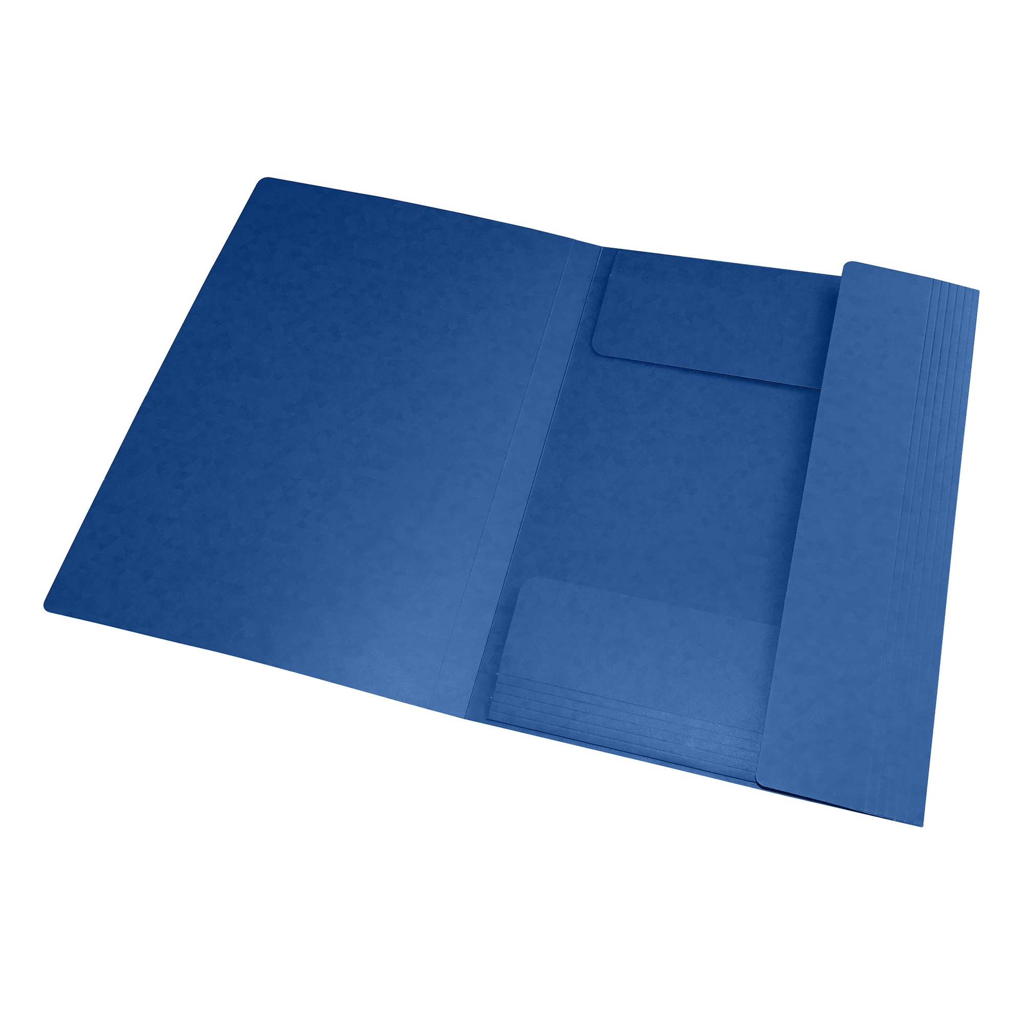 Oxford Folder Elasticated 3-Flap 450gsm A4 Blue Ref 400114326 [Pack 10]