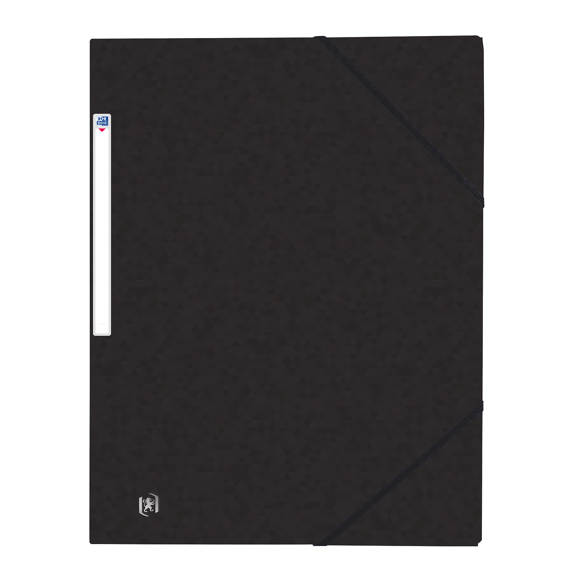 Part Files Oxford Elasticated 3-Flap Folder 450gsm Manilla A4 Black Ref 400114334 [Pack 10]