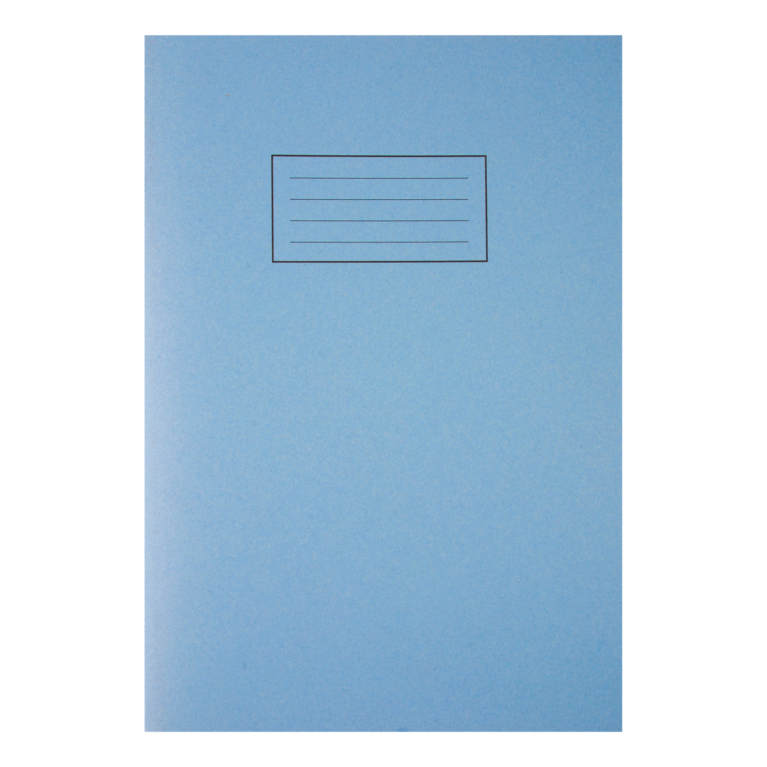 Silvine Exercise Book Plain 80 Pages 75gsm A4 Blue Ref EX114 Pack 10