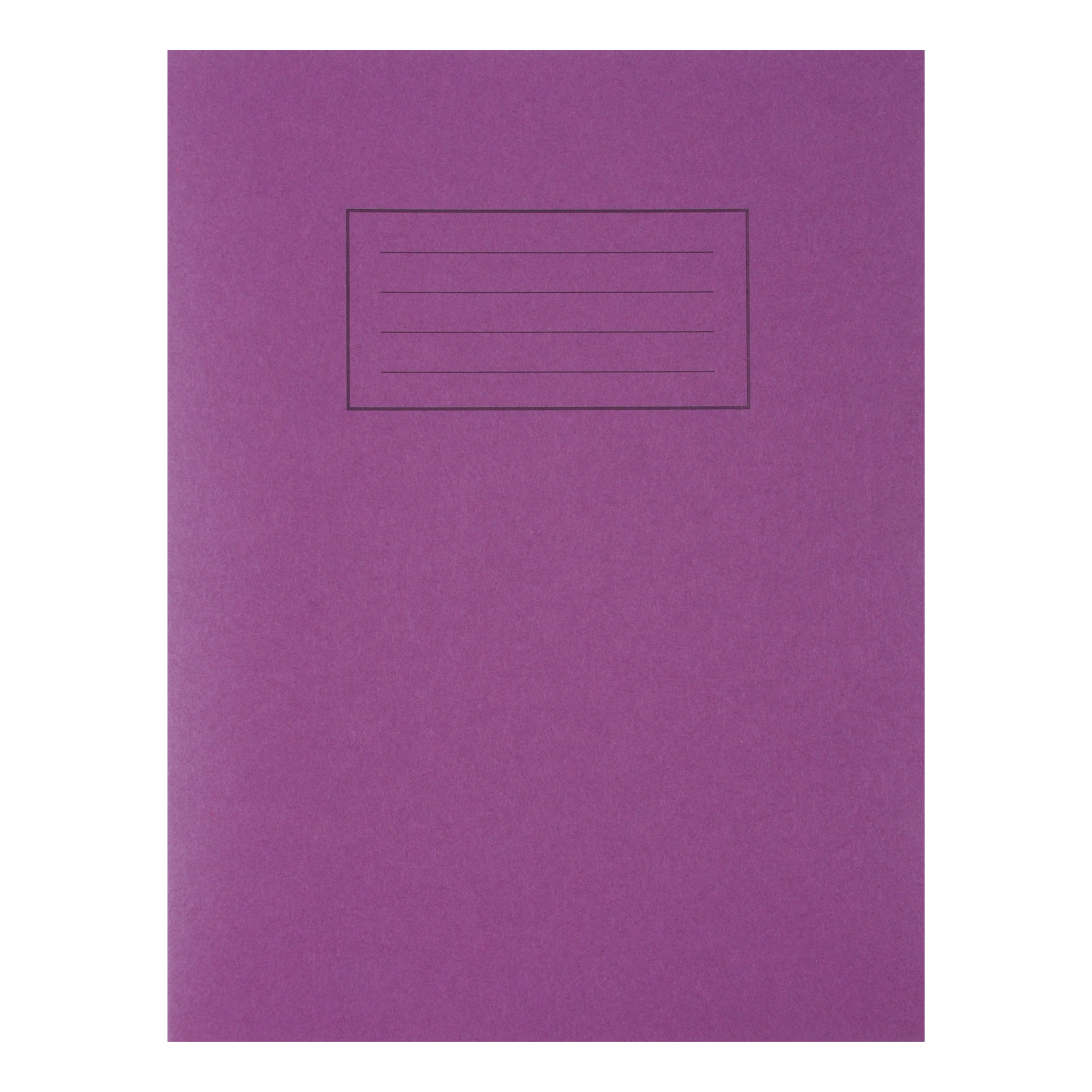 Exercise Books Silvine Exercise Book Ruled and Margin 80 Pages 75gsm 229x178mm Purple Ref EX100 Pack 10