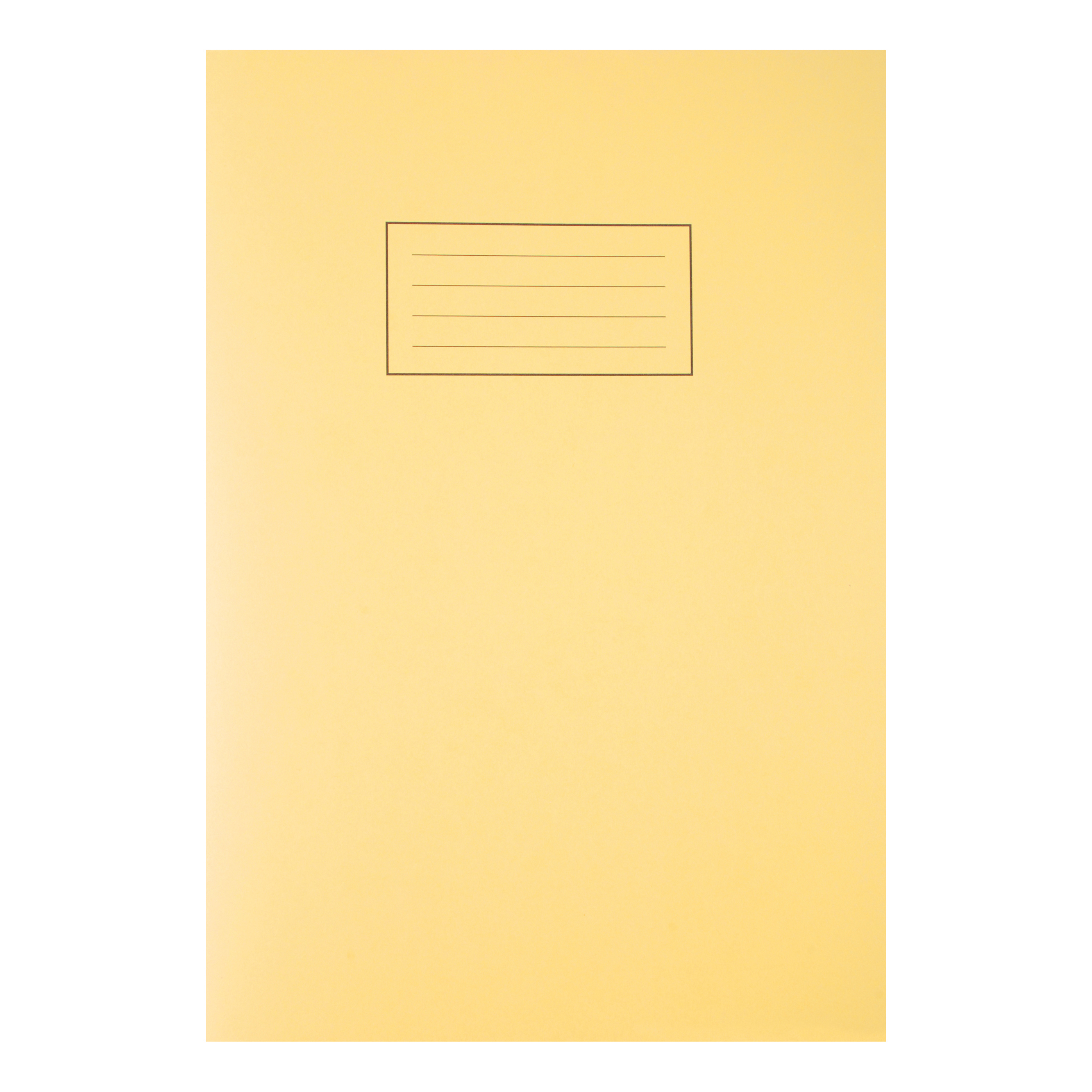 Silvine Exercise Book Ruled and Margin 80 Pages 75gsm A4 Yellow Ref EX109 Pack 10