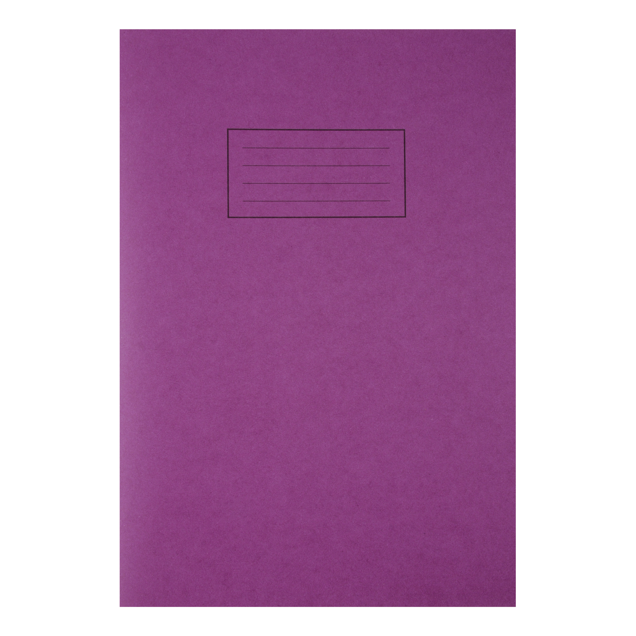 Silvine Exercise Book Ruled and Margin 80 Pages 75gsm A4 Purple Ref EX111 [Pack 10]