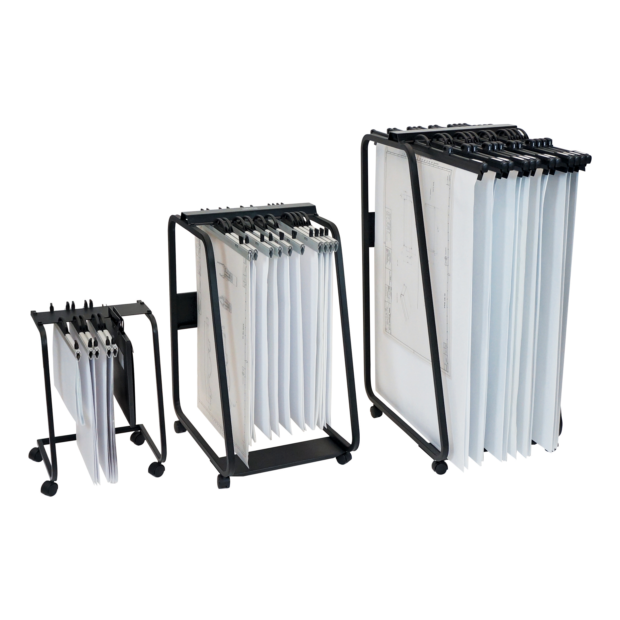 Trolleys or accessories Arnos Hang-A-Plan General Front Load Trolley for Approx 20 Binders A1-A2-B1 W550xD730xH990mm Ref D061