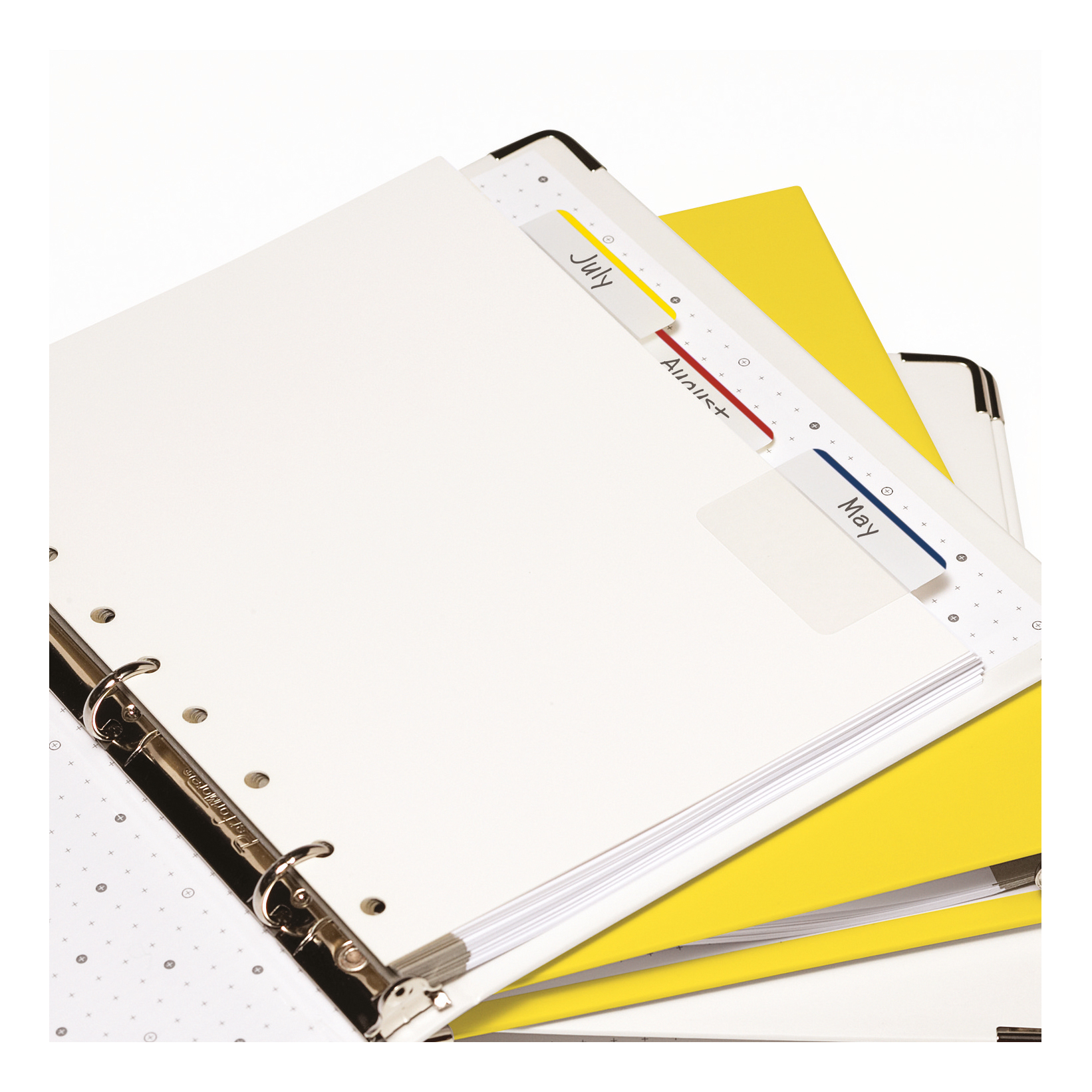Post-it Index Filing Tabs Strong Flat 51x38mm Six Each of Blu/Gre/Red/Yel Ref 70071425006 Pack 6