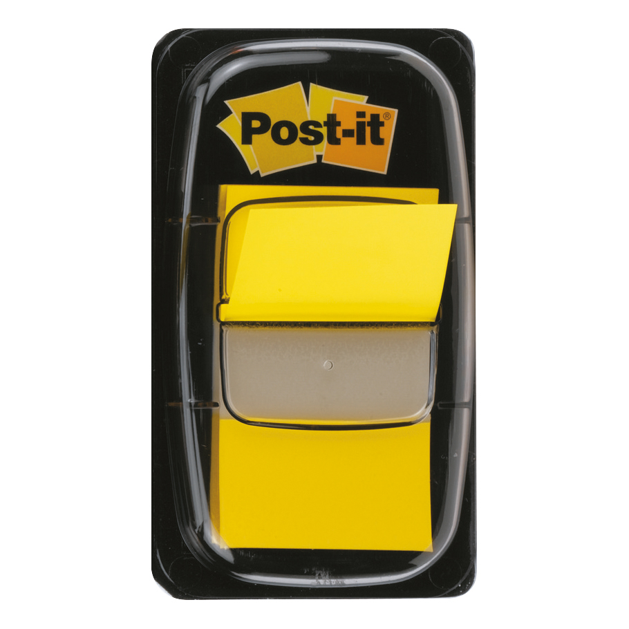 Post-it Index Flags 50 per Pack 25mm Yellow Ref 680-5 [Pack 12]