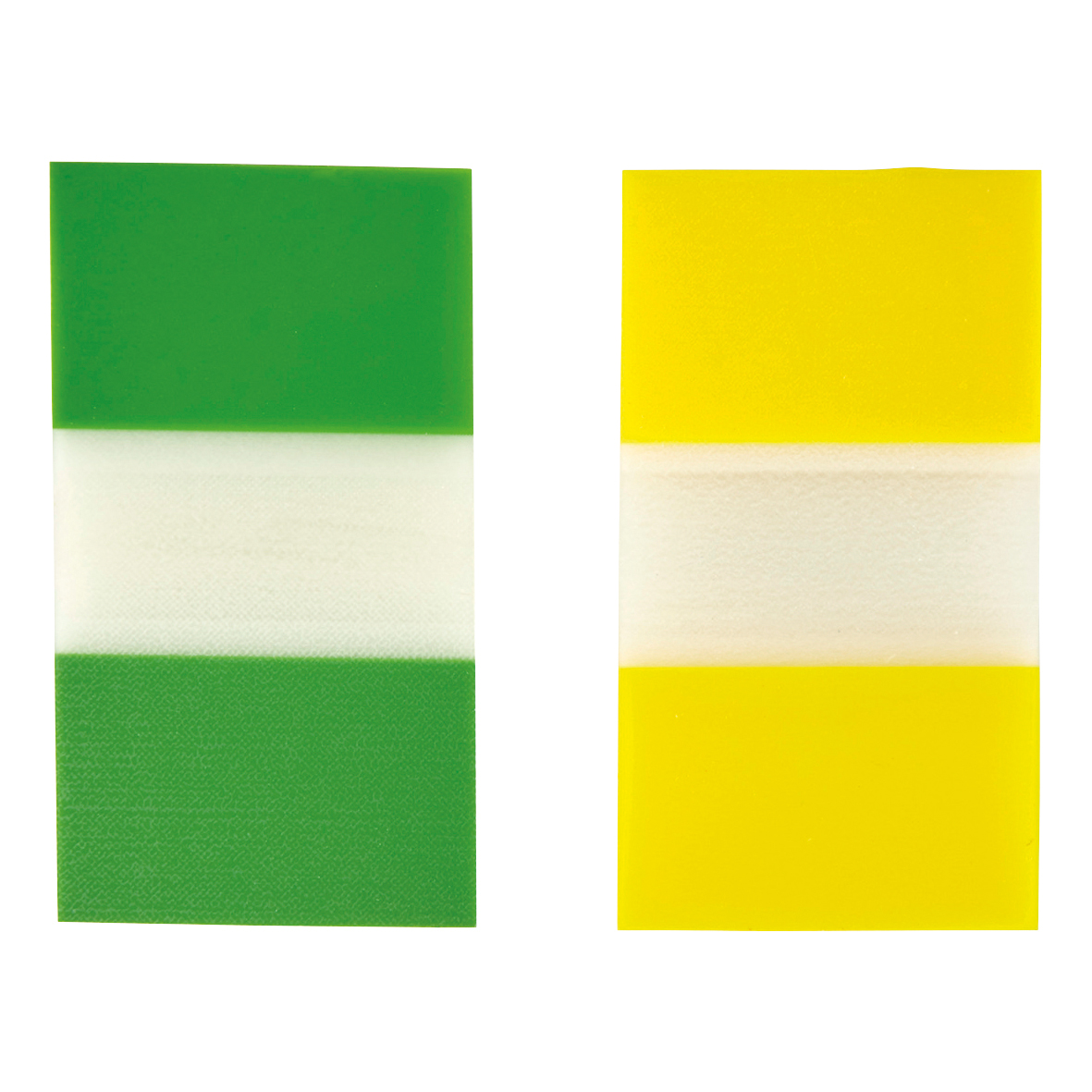 5 Star Office Index Flags 50 per Pack 25mm Yellow and Green Pack 2