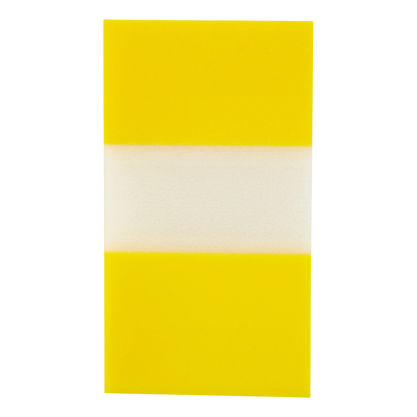 5 Star Office Standard Index Flags 50 Sheets per Pad 25x45mm Yellow Pack 5