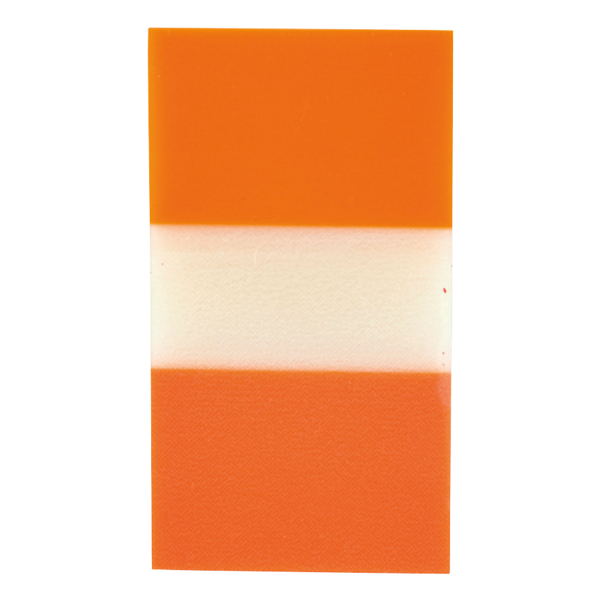 5 Star Office Standard Index Flags 50 Sheets per Pad 25x45mm Orange Pack 5