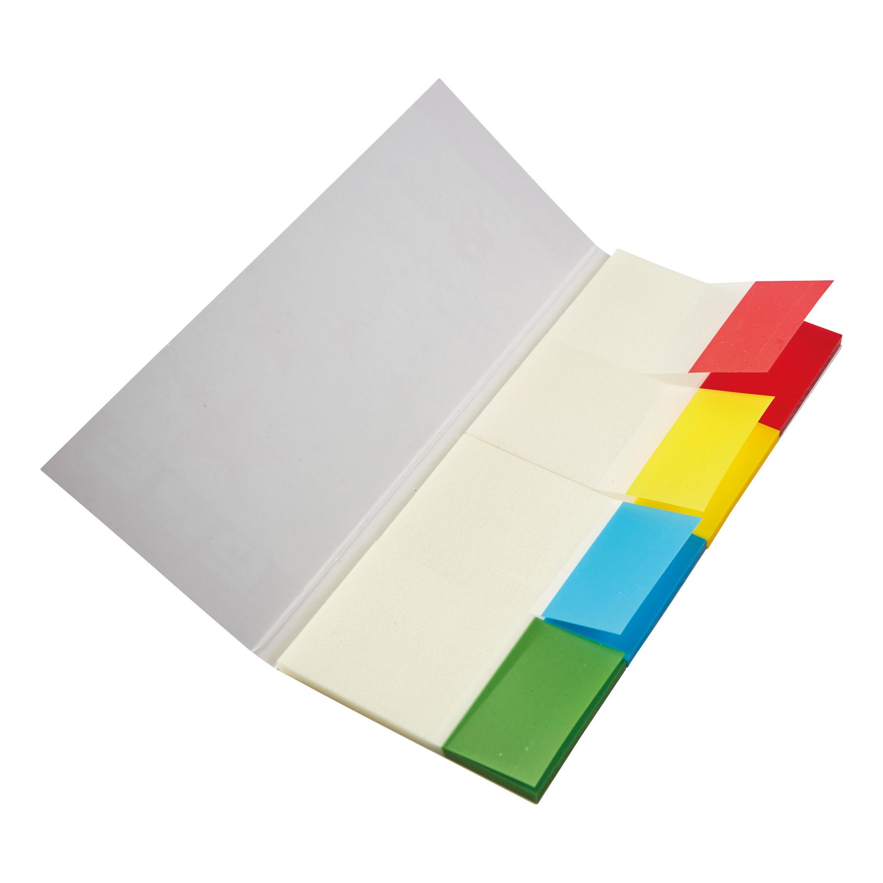 5 Star Office Index Flag Transparent Four Colour [Pack 5]