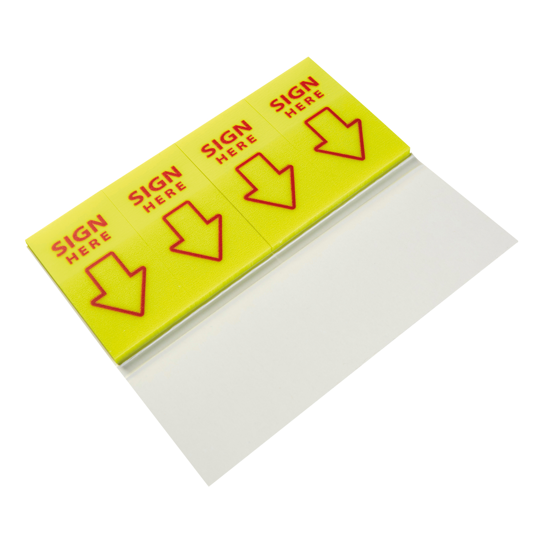 5 Star Office Sign Here Index Flags Tab With Red Arrow 46x25mm 40x4 per cover 5 covers [800 Flags]