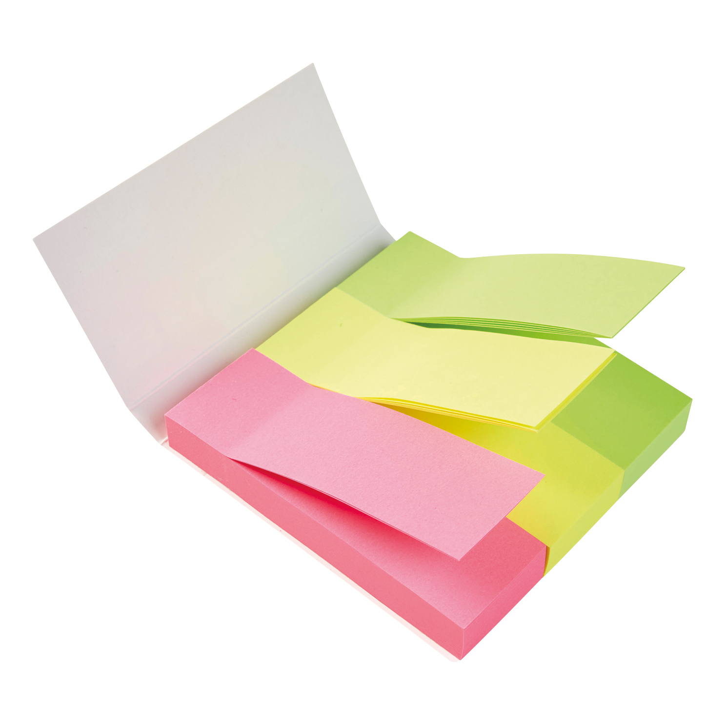 5 Star Office Index Neon Paper Page Markers 25x76mm 100 Sheets per Pad Assorted (Pack 1)