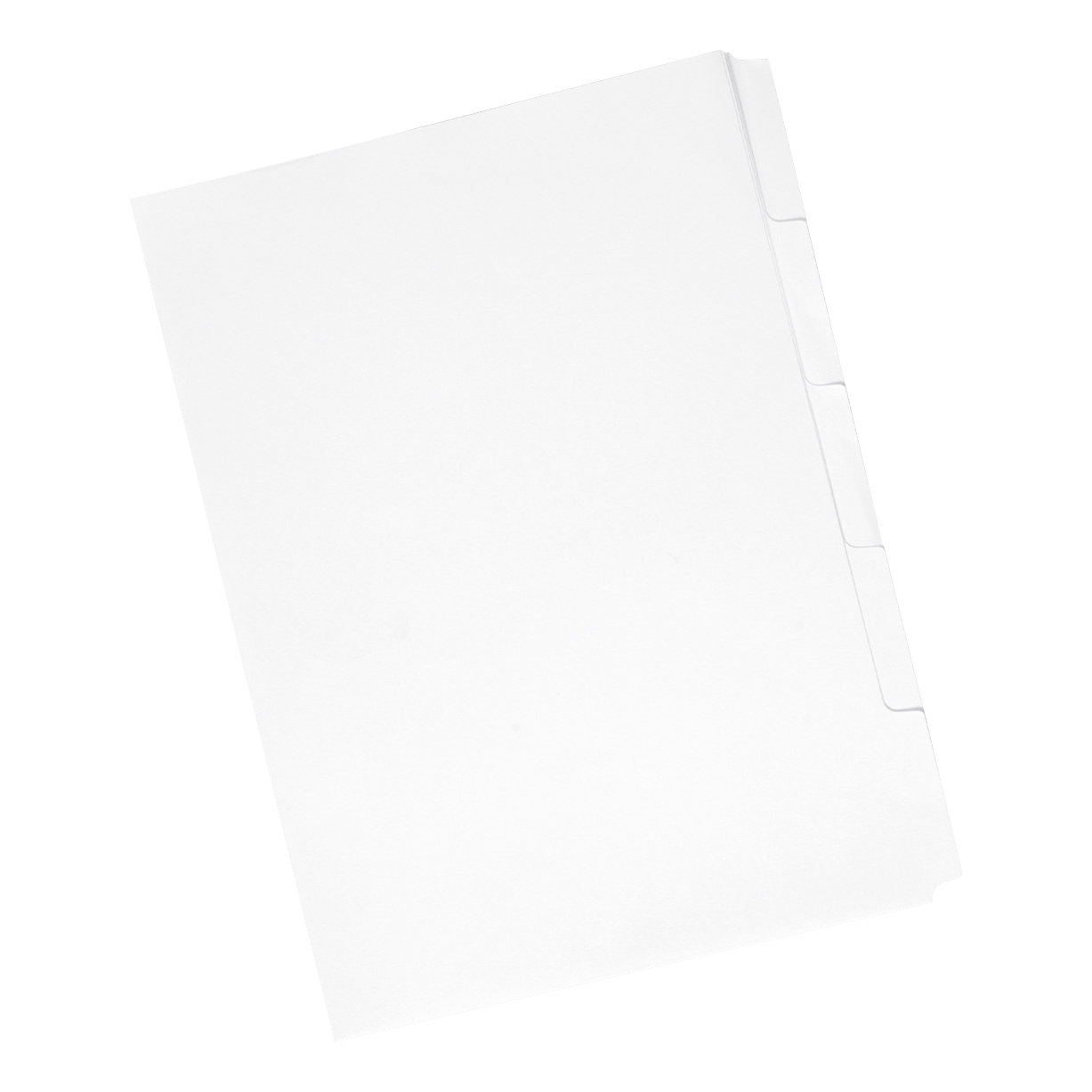 Concord Reverse Collated Subject Dividers 5-Part Unpunched 150gsm A4 White Ref 77301 [Pack 50]