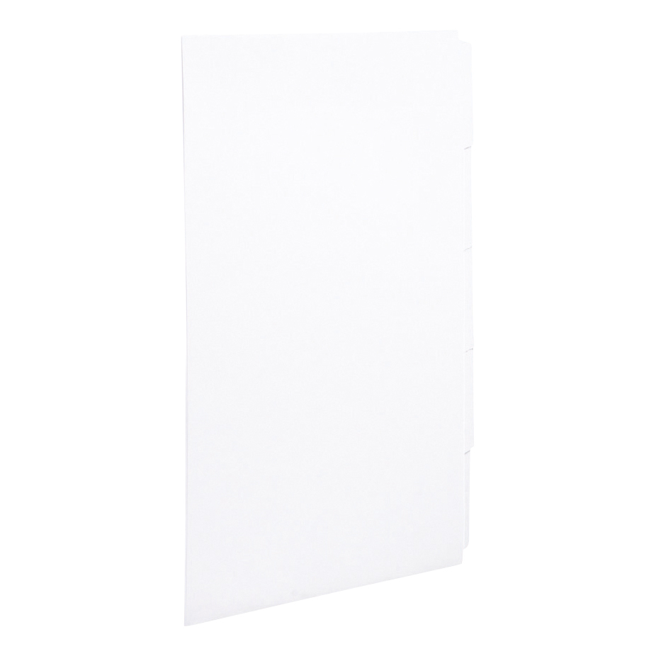 Concord Presentation Divider 5-Part Unpunched Mylar-reinforced Tabs 150gsm A4 White Ref 75701 [Pack 20]
