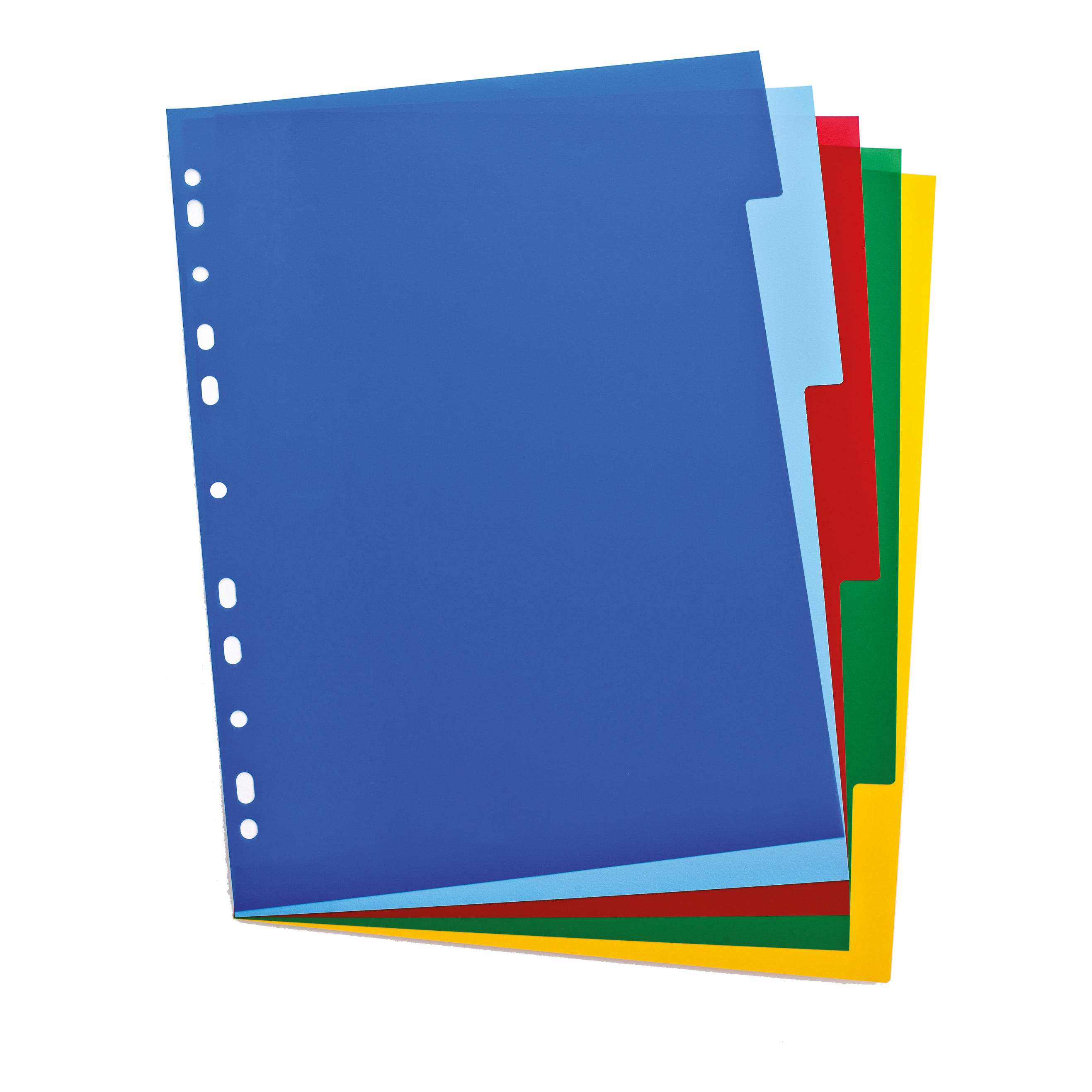 Oxford Subject Dividers 5-Pt PP Multipunched Fully Coloured 120 Micron A4 Multicoloured Ref 100205075