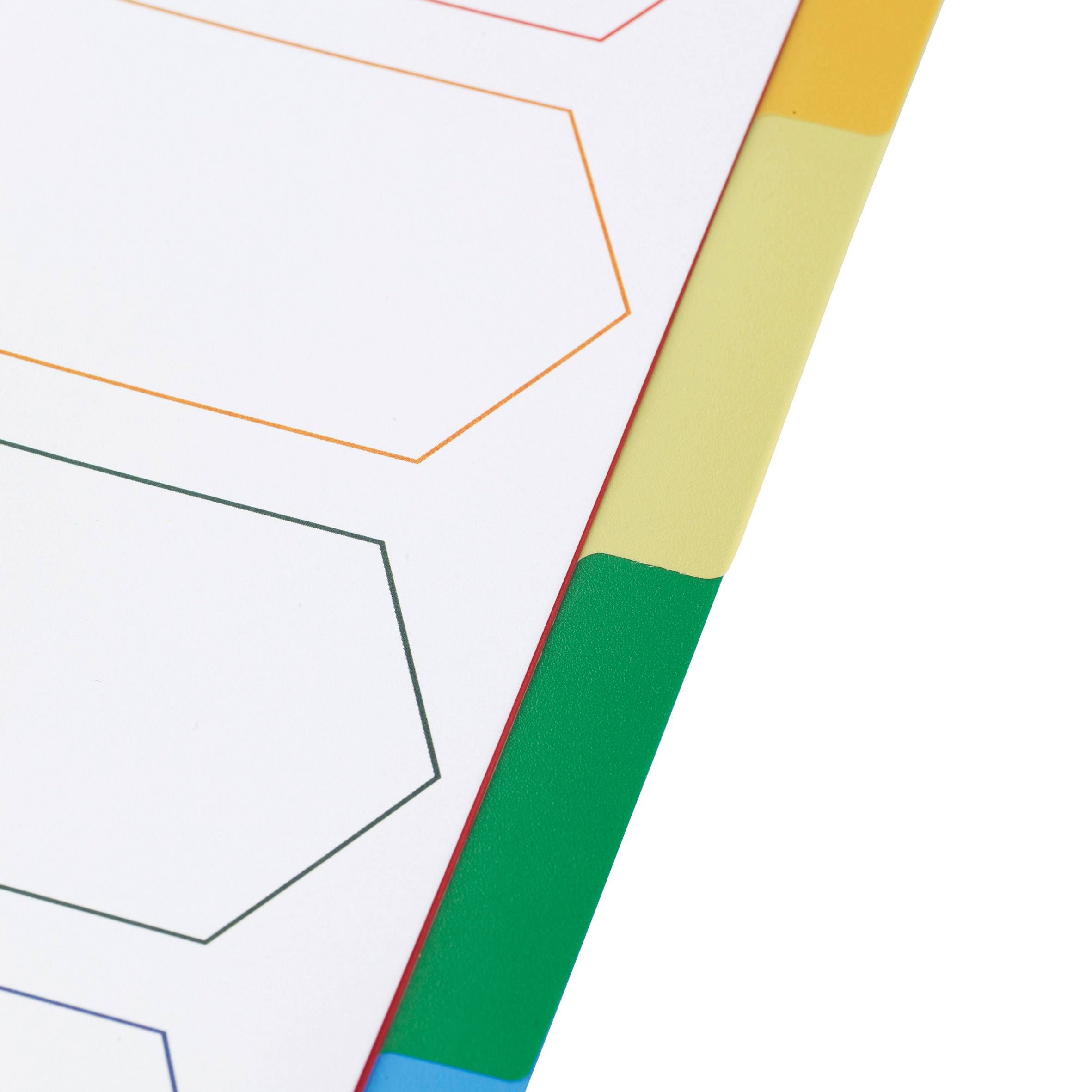 5 Star Elite Divider 5-Part Polypropylene Punched Reinforced Coloured-Tabs 120 Micron A4 White