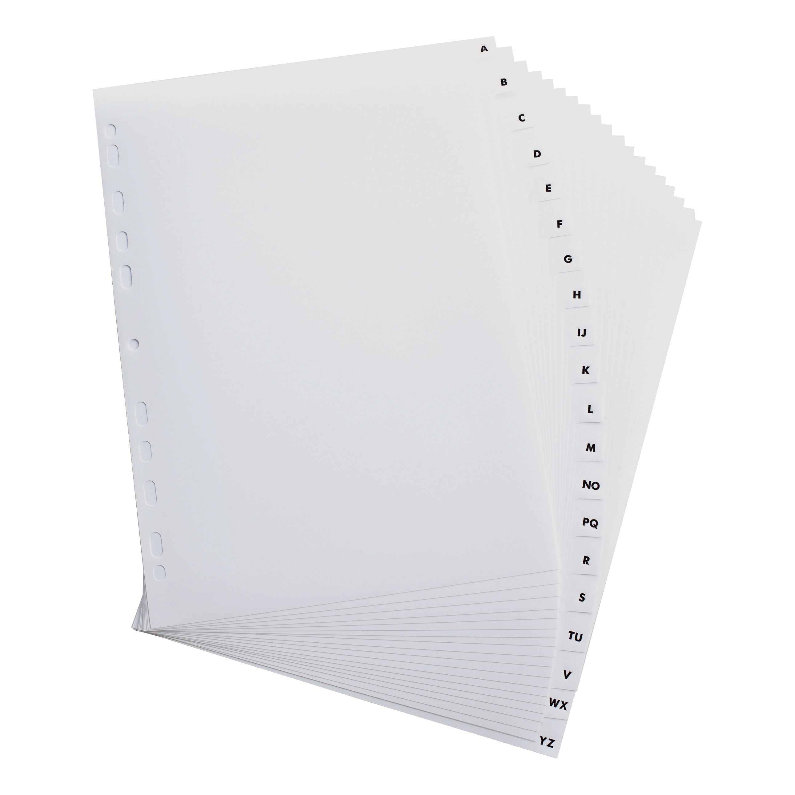 Elba Index A-Z 20-Part Polypropylene Multipunched Reinforced 120 Micron A4 White Ref 100204726